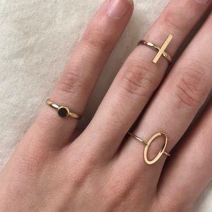 trio of golden rings